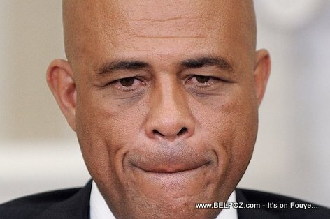 Haiti President Martelly in thinking mode