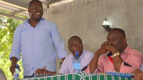Rony Celestin, Jovenel Moise, Willot Joseph - PHTK Pre-Campaign Meeting - Hinche Haiti