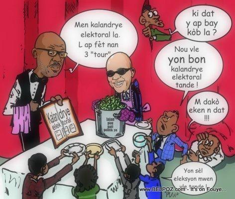 Haiti Caricature - Kandida aliyen pou jwen ti pati pa yo nan lajan k ap bay pou elections