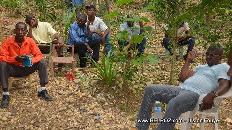 Rony Celestin Meeting Youth Organisations in Village Kiskeya Hinche