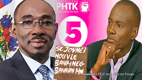PHOTO: Haiti - Evans Paul Endorses Jovenel Moise for President