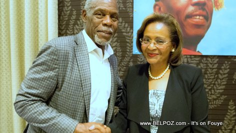 Danny Glover and Maryse Narcisse