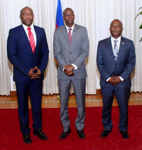 Haiti president Jovenel Moise and two house presidents