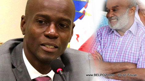 PHOTO: Haiti presidents Jovenel Moise and Rene Preval