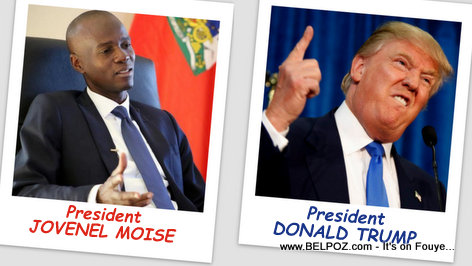 PHOTO: President Jovenel Moise and President Donald Trump