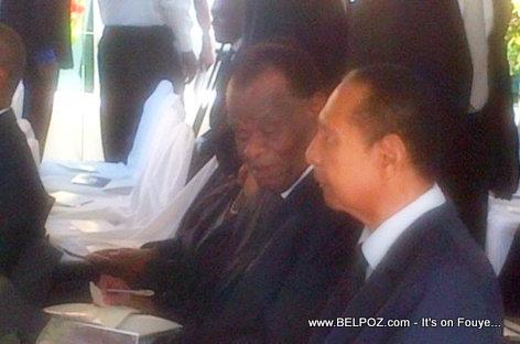 Haiti Presidents Jean Claude Duvalier and Boniface Alexandre at Leslie Manigat Funeral