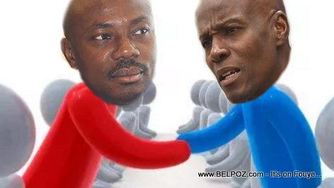 PHOTO: Haiti - President Jovenel Moise and Moise Jean Charles Shaking Hands...