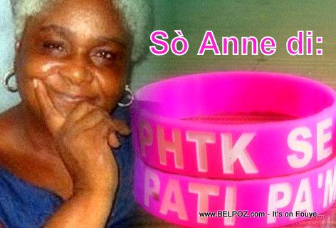 Haiti Politik - Sò Anne Auguste di PHTK se Pati Pam