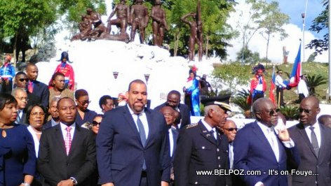 Haiti: Vertieres 2017 - Goverment officials gather at the Vertieres Momunent