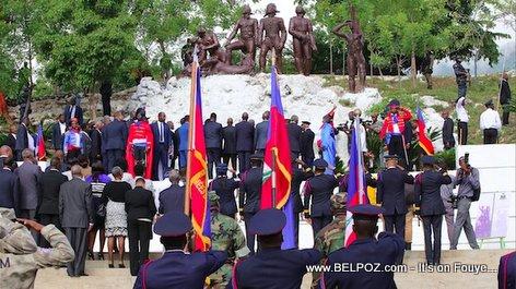 Haiti, 18 Novembre 2017 au pied du monument de Vertières