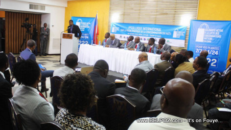 PHOTO: President Gary Bodeau - Lancement du 1e Colloque International sur la Problematique de la Consommation en Haiti