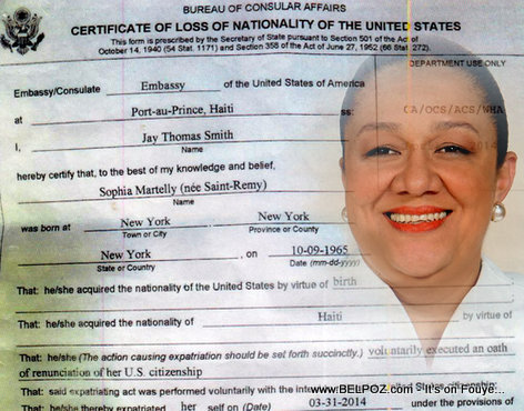 Sophia Martelly - Loss of Nationality of the United States