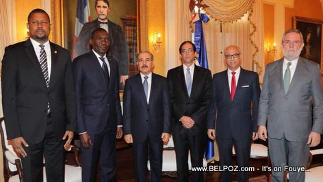 PHOTO: Haiti Parliament - Gary Bodeau and Joseph Lambert meet Dominican President Danilo Medina