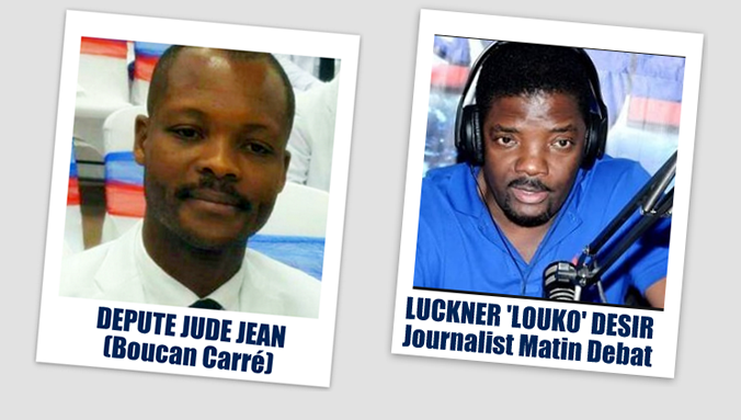 PHOTO: Haiti  Depute Jude Jean - Journaliste Louko Desir