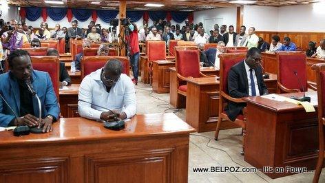 Haiti Senator Rony Celestin and Senator Antonio Cheramy - Senate Justice and Public Safety Committee