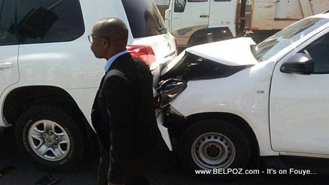 PHOTO: Rumored accident of President Jovenel's Motorcade