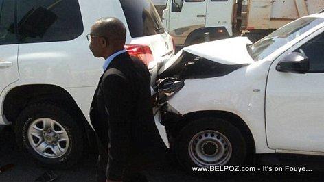 PHOTO: Rumored accident of President Jovenel's Motorcade