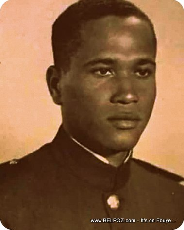 PHOTO: Henri NAMPHY when he was a young Haitian Cadet