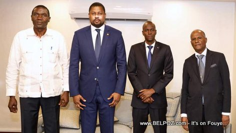 PHOTO: Haiti - The 3 Powers meet, Legislative, Executive, and Judicial