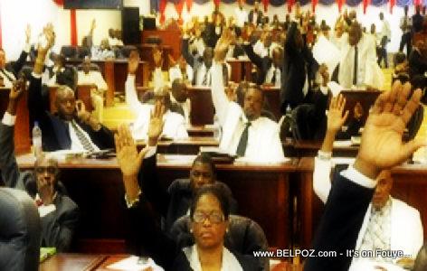 Deputes Casting their vote - Haiti Chambre des Deputes