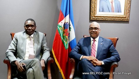 PHOTO: Haiti - Senate president Joseph Lambert and Prime Minister Jack Guy Lafontant