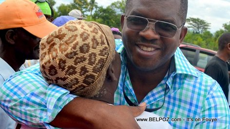 Senator Rony Celestin in Thomassique