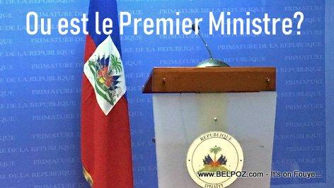 Haiti Prime Minister's podium