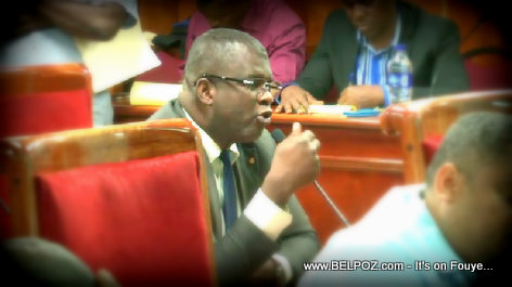 PHOTO: Haiti Senator Rony Celestin on the Senate Floor