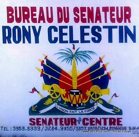 Departement Centre Haiti - Biwo Senatè Rony Celestin jwenn yon nouvo kouch penti