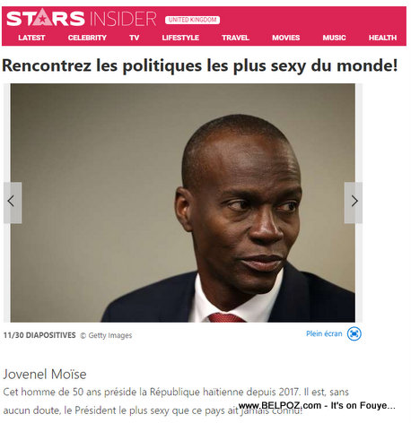 Without a doubt, Jovenel Moise is the sexiest President this Haiti has ever known, UK Magazine says