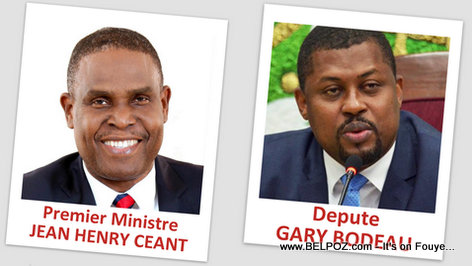Haiti Prime Minister Jean Henry Ceant and Depute President Gary Bodeau