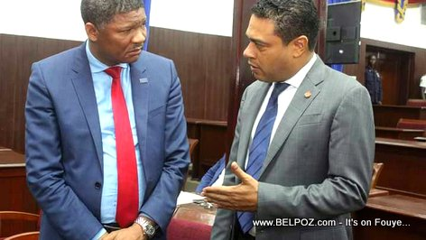 PHOTO: Haiti Depute Francisque Delacruz and Depute Jerry Tardieu