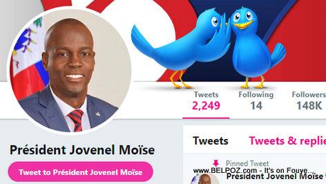 Haiti President Jovenel Moise on Twitter