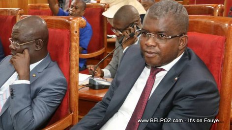 PHOTO: Haiti Senateur Rony Celestin on the Senate Floor