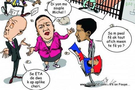 PHOTO: Haiti Caricature - Sophia Martelly al Kriye bay Mari li pou-l di yon mo... LOL...