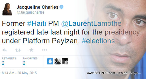 Former Haiti PM Laurent Lamothe Register for President