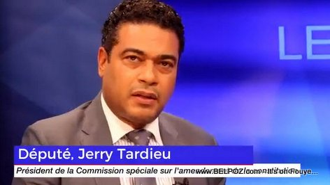 Depute Jerry Tardieu - President of the special committee of reflection on the amendment of the Constitution
