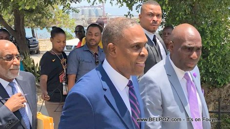 PHOTO Haiti PM Jean Henry Ceant in Parliament