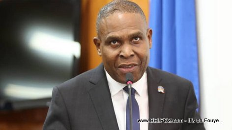 Haiti prime minister Jean Henry Ceant at the Chamber of Deputees