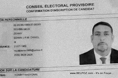 Senatè Edo Zenny Candidat a la Presidence