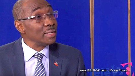 Evans Paul, former Prime Minister of Haiti, in a TV interview