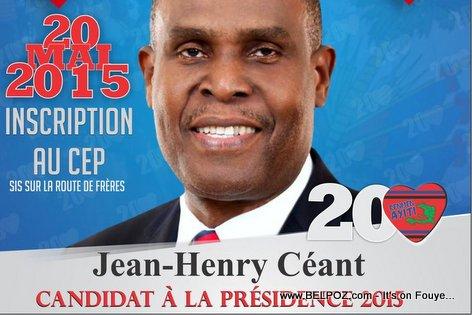 Candidat Jean-Henry Ceant di li pwal