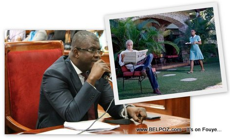Senateur Rony Celestin stands against wealthy people in Haiti who prefer to finance street protests than pay taxes
