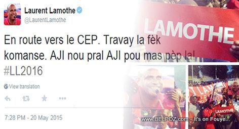 Laurent Lamothe En route vers le CEP