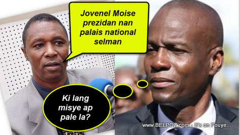 Clarens Renois: Jovenel Moise prezidan nan palais national selman