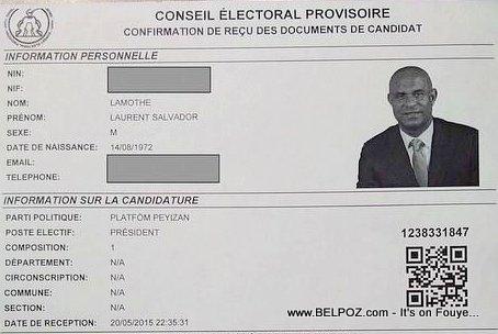 Laurent Lamothe Confirmation Candidat
