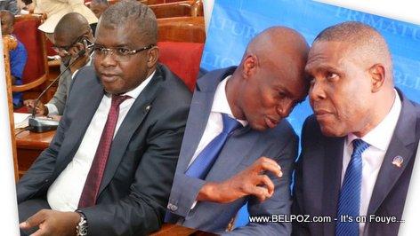 PHOTO: Senator Rony Celestin, Jovenel Moise, PM Henry Ceant