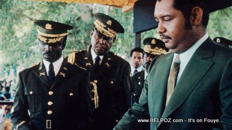 PHOTO: Haiti - General Williams Regala, Jacques Gracia and President Jean Claude Duvalier