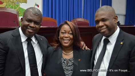 PHOTO: Haiti Senators Rony Celestin, Dieudonne Luma Etienne and Carl Murat Cantave