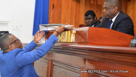 PHOTO: Haiti - Cour Superieure des Comptes submits Petrocaribe Report to the Senate of the Republic